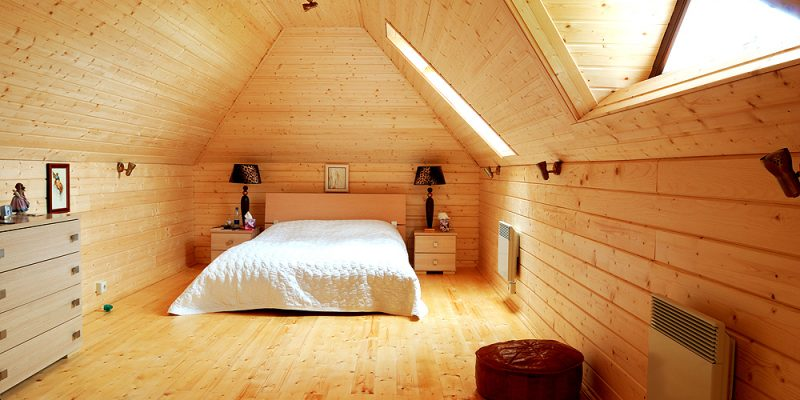 Wooden bedroom